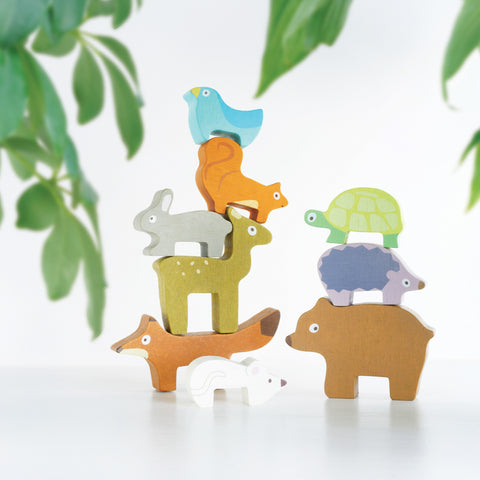 Le Toy Van Petilou Forest Wooden Stacking Animals