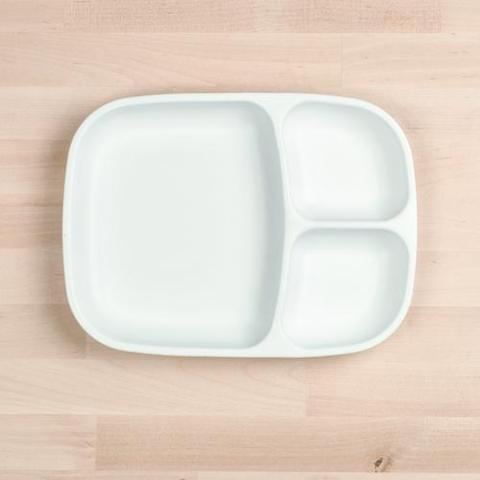 Re-Play Recycled Plastic Divided Plate in White - 25cm (Adult Size)