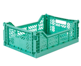 Ay-Kasa Lilliemor Midi Foldable Crate in Mint (Medium Size)
