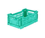 Ay-Kasa Lilliemor Mini Foldable Crate in Mint (Small Size)