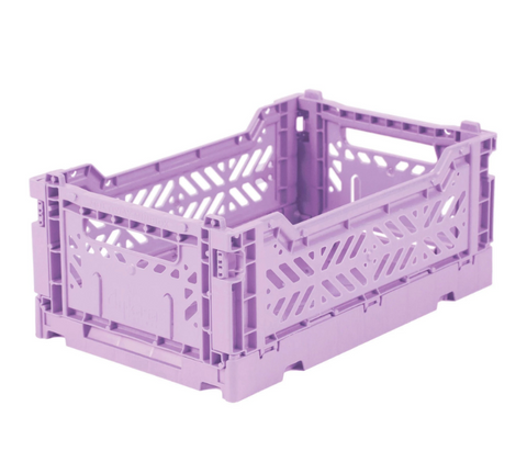 Ay-Kasa Lilliemor Mini Foldable Crate in Orchid (Small Size)