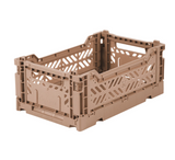 Ay-Kasa Lilliemor Mini Foldable Crate in Warm Taupe (Small Size)