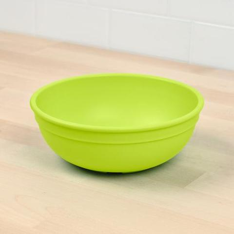 Re-Play Recycled Plastic Bowl in Lime Green - 14.6cm (Adult Size)