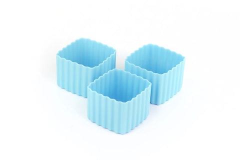 Little Lunchbox Co Bento Cups - Light Blue Squares