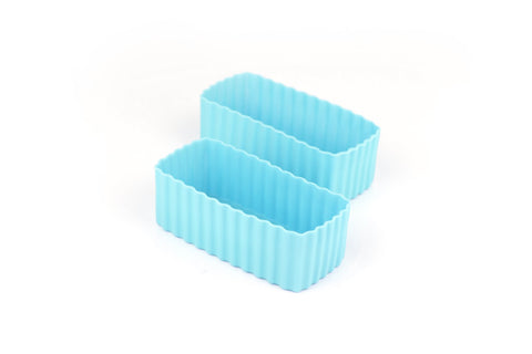 Little Lunchbox Co Bento Cups - Light Blue Rectangles