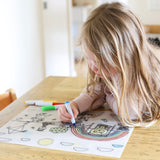 Little Woods Silicone Colour & Draw Placemat