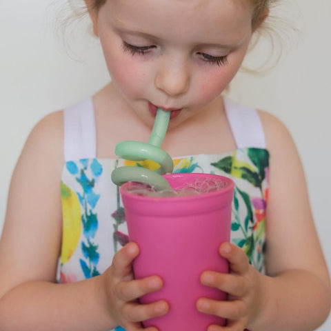 Little Woods Silicone Twirly Straw (Twin Pack)