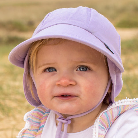 Bedhead Hat Lilac (Purple) Baby Legionnaire UPF50+ Sunhat with Chin Strap (Core Range)