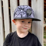 Little Renegade Company Midnight Blossom Monochrome Snapback Cap (Suitable from 4 months old)