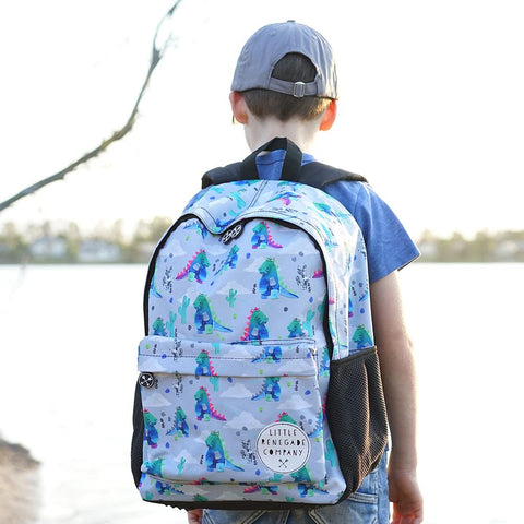 Little Renegade Company Dino-roar Dinosaur Backpack in Midi Size (Suitable for Primary School Age)