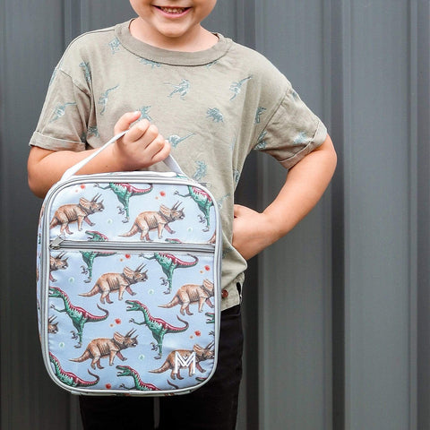 MontiiCo Insulated Lunch Bag with Ice Brick - Dinosaur Design
