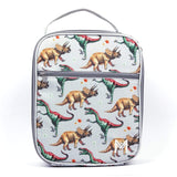 MontiiCo Insulated Lunch Bag with Ice Brick - Dinosaur Design (2020 Version)