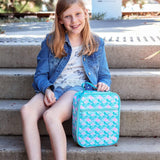 MontiiCo Insulated Lunch Bag with Ice Brick - Mermaid Design (2020 Version)
