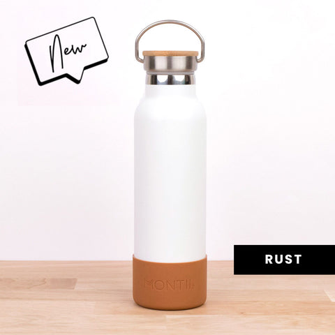 MontiiCo Silicone Drink Bottle Bumper in Rust (Suitable for Mini & Original Drink Bottles)