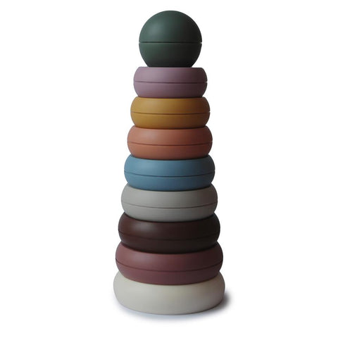 Mushie Stacking Rings (Rustic Colours) - Made in Denmark