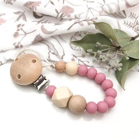 One.Chew.Three NATURALS Silicone Dummy (Pacifier) Holder