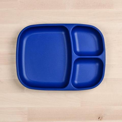 Re-Play Recycled Plastic Divided Plate in Navy Blue - 25cm (Adult Size)