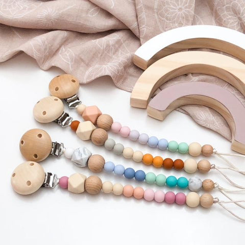 One.Chew.Three Ombre Silicone Dummy (Pacifier) Holder