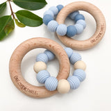 One.Chew.Three Beehive Silicone and Wooden Teether