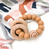 One.Chew.Three ELEMENTS Silicone and Beech Wood Teether