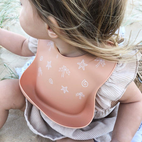 One.Chew.Three Silicone Catch Bib in Summer Melon (Summer Edition)