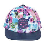 Little Renegade Company Pastel Posies Snapback Cap (Suitable from 4 months old)