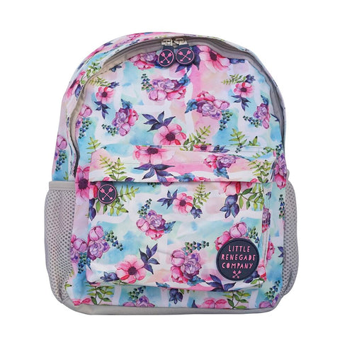 Little Renegade Company Pastel Posies Floral Backpack in Mini Size (Suitable for Toddler Age)