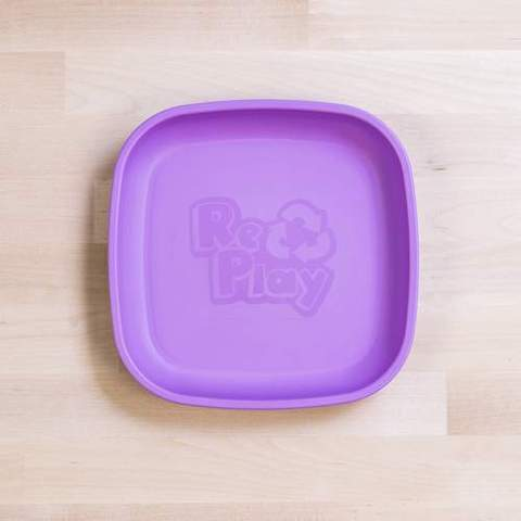 Re-Play Recycled Plastic Flat Plate in Light Purple - 18cm (Original Size)