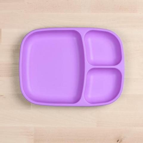 Re-Play Recycled Plastic Divided Plate in Light Purple - 25cm (Adult Size)