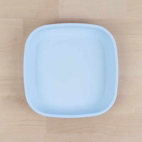 Re-Play Recycled Plastic Flat Plate in Ice Blue - 18cm (Original Size)