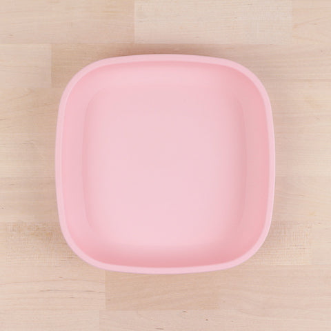 Re-Play Recycled Plastic Flat Plate in Ice Pink - 18cm (Original Size)