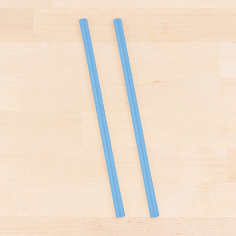 Re-Play Recycled Reusable Silicone Straw in Blue (Single Straw)