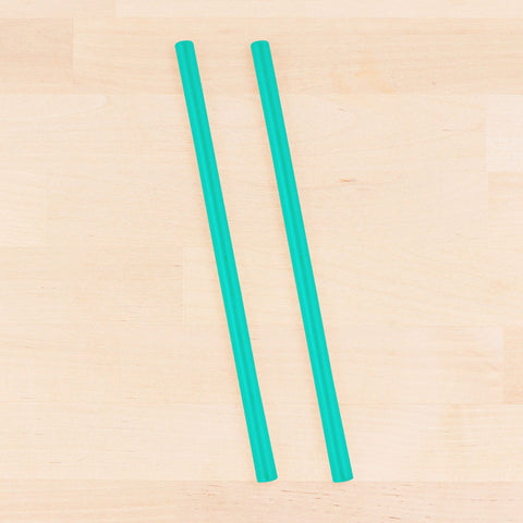 Re-Play Recycled Reusable Silicone Straw in Teal (Single Straw)