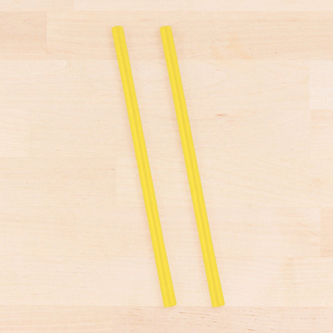 Re-Play Recycled Reusable Silicone Straw in Yellow