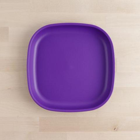 Re-Play Recycled Plastic Flat Plate in Amethyst (Dark Purple) - 22cm (Adult Size)
