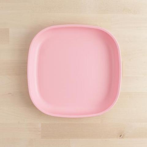 Re-Play Recycled Plastic Flat Plate in Baby Pink - 22cm (Adult Size)