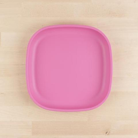 Re-Play Recycled Plastic Flat Plate in Bright Pink - 22cm (Adult Size)