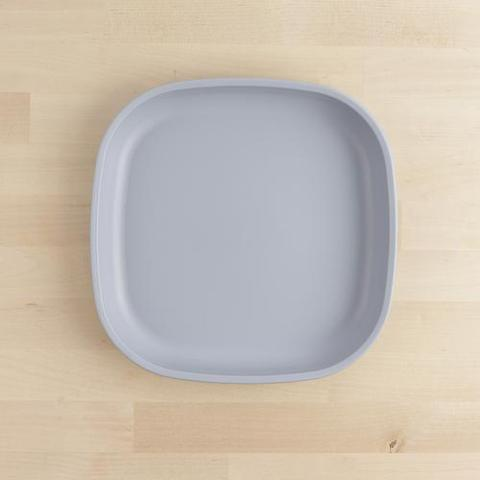 Re-Play Recycled Plastic Flat Plate in Grey - 22cm (Adult Size)