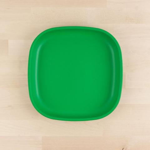 Re-Play Recycled Plastic Flat Plate in Kelly Green (Dark Green) - 22cm (Adult Size)