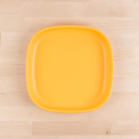 Re-Play Recycled Plastic Flat Plate in Sunshine Yellow - 22cm (Adult Size)