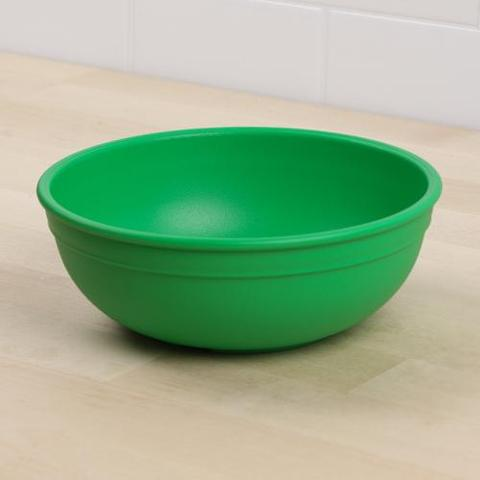 Re-Play Recycled Plastic Bowl in Kelly Green (Dark Green) - 14.6cm (Adult Size)