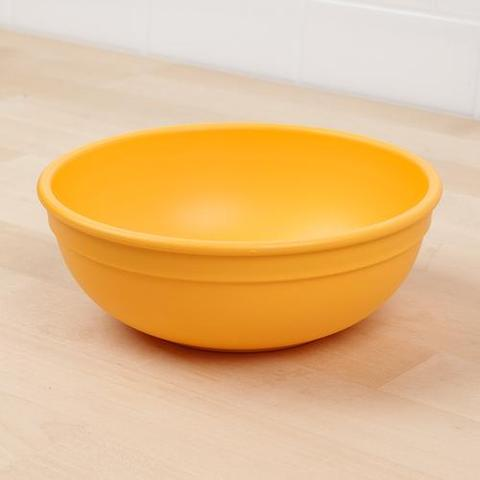 Re-Play Recycled Plastic Bowl in Sunshine Yellow - 14.6cm (Adult Size)