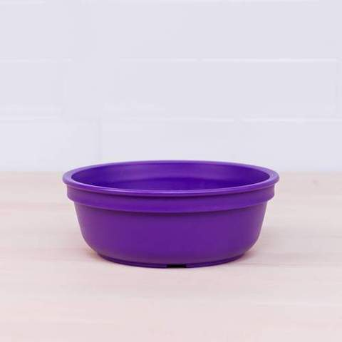 Re-Play Recycled Plastic Bowl in Amethyst (Dark Purple) - 13cm (Original Size)