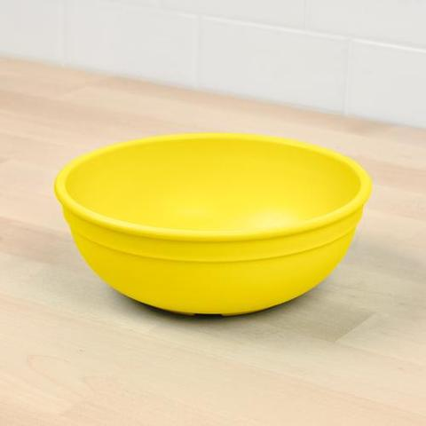 Re-Play Recycled Plastic Bowl in Yellow - 14.6cm (Adult Size)