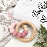 One.Chew.Three Duo Silicone and Wooden Teether