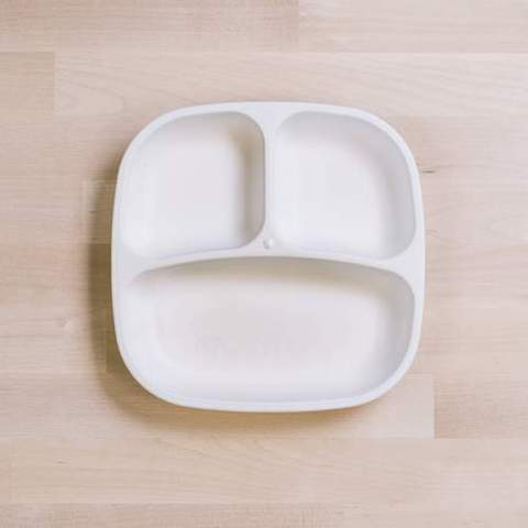 Re-Play Recycled Plastic Divided Plate in White - 18cm (Original Size)