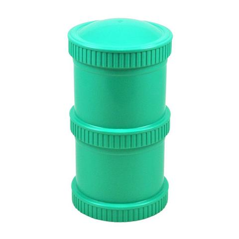 Re-Play Recycled Plastic Snack Stack in Aqua