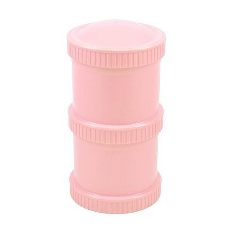 Re-Play Recycled Plastic Snack Stack in Baby Pink