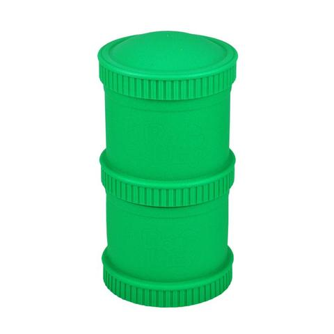 Re-Play Recycled Plastic Snack Stack in Kelly Green (Dark Green)
