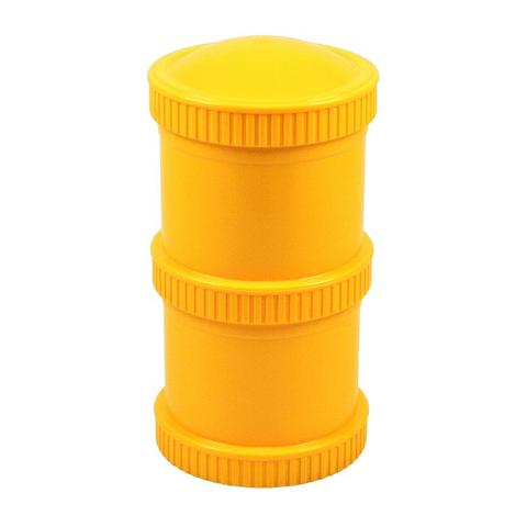 Re-Play Recycled Plastic Snack Stack in Sunshine Yellow